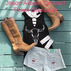 Want to win Jason Aldean Tickets??!!!   Front Porch is giving away 2 tickets to one lucky customer for Jason Aldean's show in St. Louis on July 21st!  All you have to do to enter is like and share this post and click on the link below to register.  Winners will be announced Wednesday!  Good Luck All! www.frontporchboutique.com/giveaways/