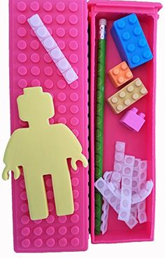 Ultimate Building Blocks Fan Pack- Block Pencil Case Packed with Pencil, Erasers, Sharpener, and Notepad - Pink * Want to know more, click on the image.