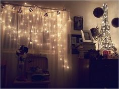 bedroom fairy lights inspiration