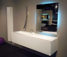 The lovely wall-mounted Luna faucet by GRAFF at Richlin Interiors' space in the Miromar Design Center in Estero, FL.