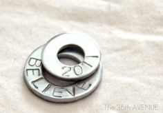 Steel stamped washers for a necklace