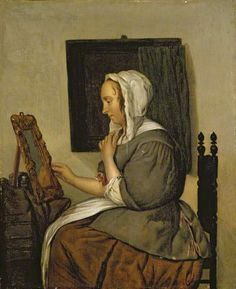 Young Woman at Her Toilet, after Gabriel Metsu, 17th century