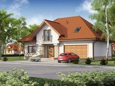 Projekt domu DA Aureliusz 2 - DOM DS1-91 - gotowy projekt domu Home Fashion, The Hamptons, Cabin, House Styles, Home Decor, Gardens, Decoration Home, Room Decor, Cabins