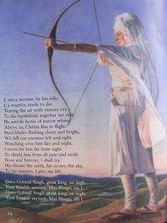 One of the many female Sikh warriors of the past. Other famous names include; Mai Sukhan, Sahib Kaur, Rajindar Kaur, and Dalair Kaur. Farmer Painting, Ek Onkar, Kundalini Meditation, Warrior Queen, Woman Warrior, Sikh Quotes, Guru Gobind Singh, Dev Ji, Pomes
