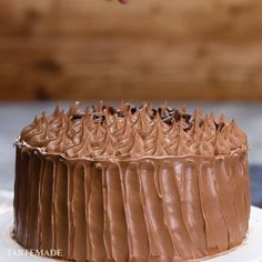 Lee-Inspired Chocolate Gateau Need an impressive birthday cake recipe? This chocolate gateau is exactly what you're looking for.Need an impressive birthday cake recipe? This chocolate gateau is exactly what you're looking for. Easy Cake Recipes, Sweet Recipes, Baking Recipes, Dessert Recipes, Dinner Recipes, Healthy Recipes, Baking Desserts, Soup Recipes, Delicious Desserts