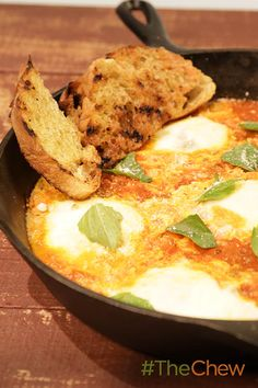 These eggs are are simmered in delicious sauce for a Eggs in Purgatory brunch favorite!