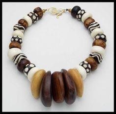 TRIBES Vintage Wooden Spindles por sandrawebsterjewelry en Etsy