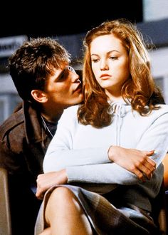 This scene in the movie shows Cherry, who is involved with the Socs, being flirted on by Dally, a Greaser. This is the first time Cherry is introduced and characterizes Dally by showing his confidence and forcefulness towards Cherry.