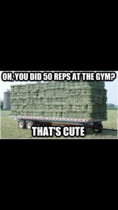 Oh, you did 50 reps at the gym?  That's cute!  #truthinfarming