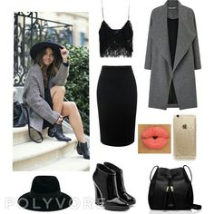 New outfit created by me on polyvore! Check out my profile: edsheerancute #outfit #elegant #black #dark #polyvore