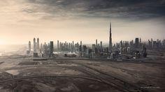 Aerial Dubai shot from a S800 EVO drone