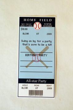 Baseball Party invite printables