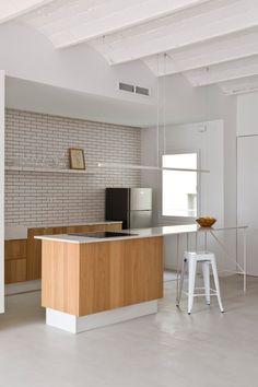 Design contemporâneo no apartamento em Barcelona