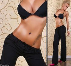 BNWT Very Sexy Elegant Dress Pants Boot Cut Black XS S XL