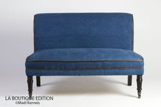 Banquette JAMES Denim - Mobilier Deco - Salon - Classique | La Boutique Paris