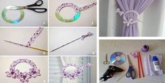 This blog is called reuse the old CD's to make curtain knot in creative way.
