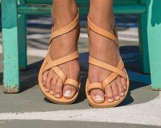 Boho Damen Sandalen Sandaletten Zehentrenner Römer Mode Riemchen Sommer PD