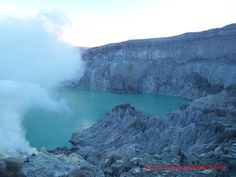 Ijen crater, Banyuwangi, East Java, Indonesia. Also we can see the blue flame there before sunrise.
