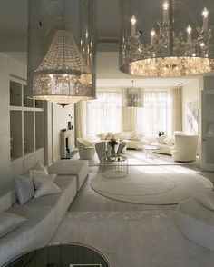 Sexy white living room