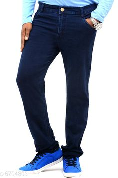 Jeans Trendy Men's Jean Fabric: Denim Pattern: Solid Multipack: 1 Sizes:  26 (Waist Size: 11 in Length Size: 10 in) Country of Origin: India Sizes Available: 30, 32, 34, 36, 38, 40   Catalog Rating: ★3.9 (1733)  Catalog Name: Trendy Men's Jeans CatalogID_1068750 C69-SC1211 Code: 805-6704303-5121