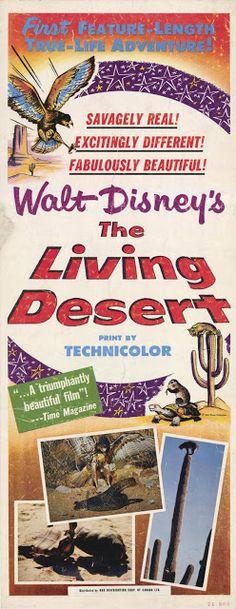 True Life Adventures: The Living Desert Disney Movie Poster Disney Movie Posters, Movie Poster Art, Disney Films, Film Posters, Walt Disney, Disney Family, Disney Art, Disney Live, Disney Documentary