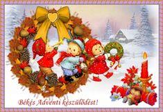 Képeslap küldő - oregfrei68.qwqw.hu Advent, Christmas Wreaths, Holiday Decor, Home Decor, Decoration Home, Room Decor, Home Interior Design, Home Decoration, Interior Design