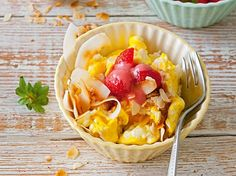 Low Carb Diätplan: Rezept für süßes Rührei