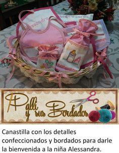 Palli y sus bordados: Nueva Página: Canastilla para Alessandra