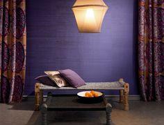 Elitis wallcovering in jewel tones