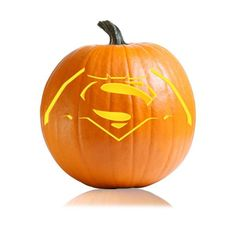 26 Pumpkin Carving Ideas For Your Little Cartoon-Lover Superman/Bat Symbol Combine two of their favorite superheroes on one pumpkin!