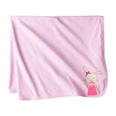 JUST ONE YOU Made by Carters Infant Toddler Girls Ctn Blanket - PinkParchment