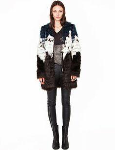 Multi color faux fur coat. Want it so badly!! #r29mystylist