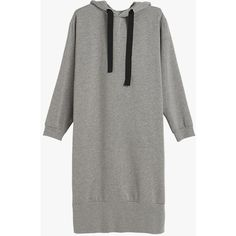 Oversized Pullover Dress ($94) ❤ liked on Polyvore featuring dresses, day dresses, grey, vestido, oversized dresses, gray dress, grey dress and cotton blend dresses