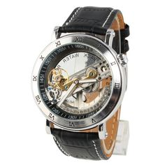 TODDCAHALAN Classic Symphony Aristocrat Bridge Automatic Skeleton Black Dial Mechanical Watch * Find out more about the great product at the image link. (Note:Amazon affiliate link)