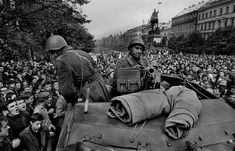 by Josef Koudelka - CZECHOSLOVAKIA. Prague. August 1968. Warsaw Pact troops invade Prague