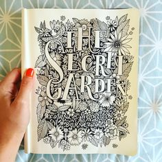 """424 Likes, 24 Comments - Stephanie Baxter (@stephsayshello) on Instagram: """"My paws are always busy drawing something ✏️ #handlettering #handdrawntype #thesecretgarden…"""""""