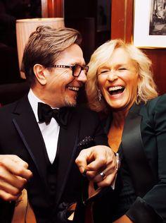 Gary Oldman & Glenn Close ~ They need to do a movie together. Glenn Close, Viggo Mortensen, Romantic Pictures, Gary Oldman, Hugh Dancy, Jude Law, Aidan Turner, Sirius Black, Many Faces