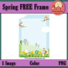 Freebies| Clip Art| Spring| https://www.teacherspayteachers.com/Product/FREE-Spring-Time-Frame-3053324?utm_source=Pinterest&utm_campaign=Free%20Spring%20Time%20Frame