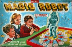 The amazing Magic Robot. Before the internet this was how kids looked up amazing facts !