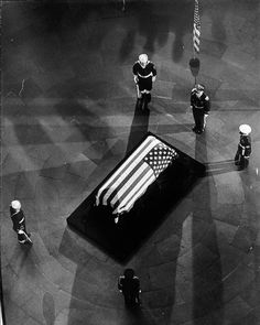 """oscarcurated: """"""""President John F. Kennedy's casket on display inside the rotunda of The Capitol in Washington, DC on Nov. 24, 1963. (Vic Casamento/The Washington Post) #forwp #jfk #presidentkennedy #kennedy #rotunda #igdc #photooftheday"""" by..."""