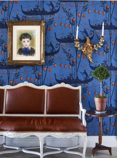 A timeless and enduring blue hue, PANTONE Classic Blue is elegant in its simplicity. Explore more Pantone 2020 designs for a rich interior. Baby Blue Bedrooms, Blue Rooms, Blue Walls, Bohemian Room Decor, Bohemian Interior, Chinoiserie, Blue Ottoman, Blue Wallpapers, I Wallpaper