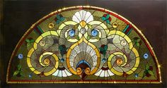 Antique American Victorian Stained Glass Window AE287