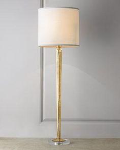 Mercury-Glass Gold Candlestick Lamp