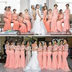 Arabic African Coral Bridesmaid Dresses with Half Sleeves Plus Size Lace Mermaid Wedding Party Dresses Women Formal Gowns Custom Made Plus Size Bridesmaids Gowns, African Bridesmaid Dresses, Bridesmaid Dresses With Sleeves, Mermaid Bridesmaid Dresses, Beautiful Bridesmaid Dresses, Lace Party Dresses, Party Gowns, Red Bridesmaids, Beautiful Dresses