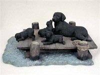 Labrador Retriever Figurine Mom & Pups