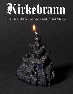 Make your black metal fantasies come true and burn a stave church in the comfort of your own home. Kirkebrann is a stave church-shaped candle. The third edition features a brand new church, inspired by the famous Fantoft stave church in Bergen, Norway.