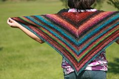 Simple yet effective - noro shawl