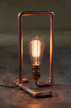 Here's how to make a copper pipe lamp in no time. An excerpt from a new DIY book by Asa Christiana, available now. Lamp How to Make a Custom Copper Pipe Lamp