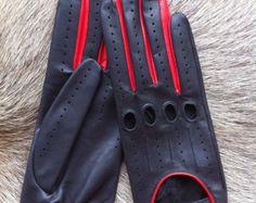 Guantes de los hombres de conducción Crochet  guantes de