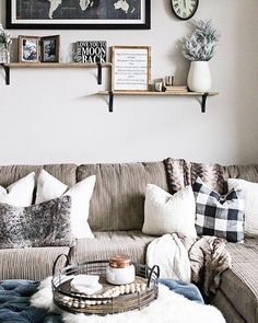"""5,314 Likes, 28 Comments - #LTKhome (@liketoknow.it.home) on Instagram: """"Buffalo check, touches of fur and wood accents, add a rustic appeal to your living space a la…"""""""